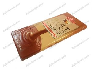 Diet dark chocolate with fructose and fiber - 80g.