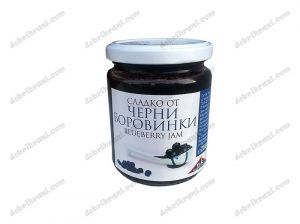 Bilberry jam with fructose - 280 grams.