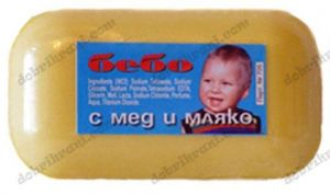Children soap BEBO with honey and milk - 60 grams.