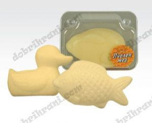 Children soap HONEY in the shape of animals - 60 grams.