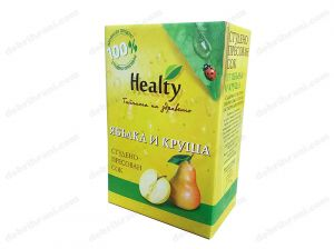 HEALTY - cold-pressed APPLE AND PEAR juice - 3L, 750mL, 300mL